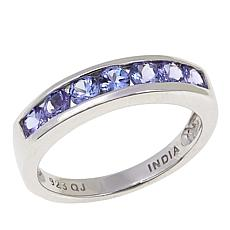 Colleen Lopez 0.7ctw Invisible-Set Tanzanite Sterling Silver Ring