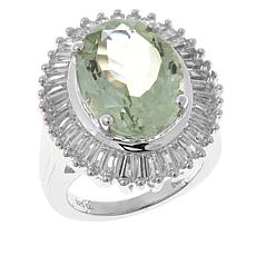 Colleen Lopez 10.57ctw Oval Prasiolite and Topaz Ring