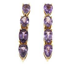 Colleen Lopez 10K Gold Fancy Sapphire Drop Earrings