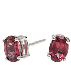 Colleen Lopez 1.5ctw Oval Tanga Garnet Stud Earrings