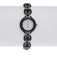 Colleen Lopez 18.26ctw Black Spinel Bracelet Watch