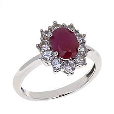 Colleen Lopez 2.26ctw Indian Ruby and White Zircon Ring