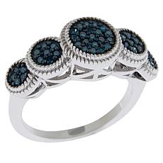 Colleen Lopez .25ctw Colored Diamond Circle Station Ring