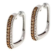 Colleen Lopez .30ctw Colored Diamond Square Hoop Earrings