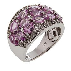 Colleen Lopez 3.80ctw Pink Sapphire and White Topaz Ring