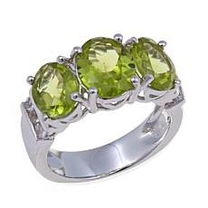Colleen Lopez 3.96ctw Peridot 3-Stone Ring