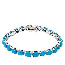 Colleen Lopez 7x5mm Oval Kingman Turquoise Tennis Bracelet