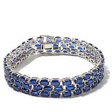 "Colleen Lopez ""Bermuda"" 51.6ctw 3-Row Kyanite Bracelet"