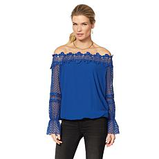 Colleen Lopez Cést Magnifique Off-the-Shoulder Lace Top