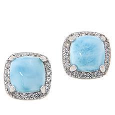 Colleen Lopez Cushion-Cut Exotic Gemstone Stud Earrings