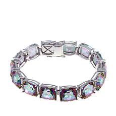 Colleen Lopez Cushion-Cut Mystic Quartz Line Bracelet