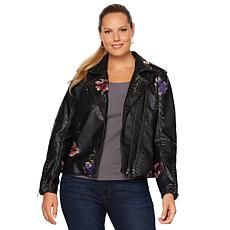 Colleen Lopez Fabulous Floral Embroidered Jacket