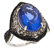 Colleen Lopez Fluorite, Black Spinel and White Zircon Ring