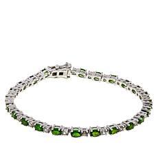 Colleen Lopez Gemstone and White Zircon Tennis Bracelet