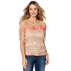 Colleen Lopez Island Sunset Crochet Top with Tank
