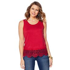 Colleen Lopez Lace-Trim Tank
