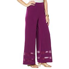Colleen Lopez Mesh Inset Palazzo Pant