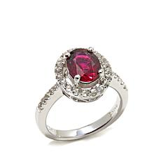 "Colleen Lopez ""Morning Star"" Rubellite and Zircon Ring"
