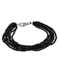 Colleen Lopez Multi-Strand Black Spinel Beaded Bracelet