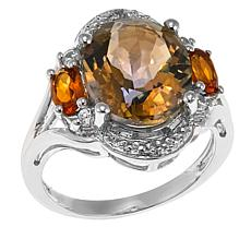 Colleen Lopez Mystic Quartz and Gem Sterling Silver Ring