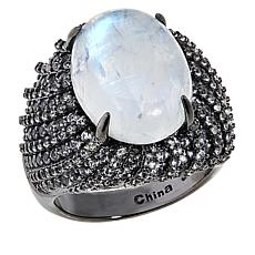Colleen Lopez Oval Gemstone and White Topaz Ring