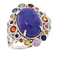 Colleen Lopez Oval Gemstone, Multi-Sapphire and Ruby Ring