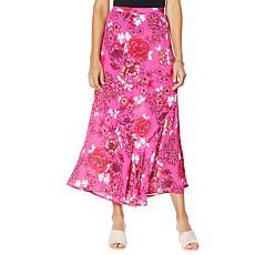 Colleen Lopez Printed Flounce Hem Maxi Skirt