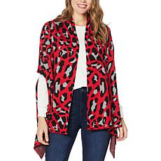 Colleen Lopez Printed Sweater Wrap