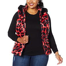 Colleen Lopez Puffer Vest with Detachable Hood
