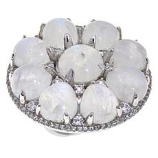 Colleen Lopez Round Gemstone and White Zircon Ring