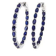 Colleen Lopez Sapphire Inside-Outside Hoop Earrings