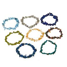 Colleen Lopez Set of 8 Gemstone Stretch Bracelets