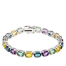 "Colleen Lopez Sterling Silver ""Colors of Fluorite"" Bracelet"