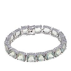 Colleen Lopez Sterling Silver Cushion-Cut Prasiolite Bracelet