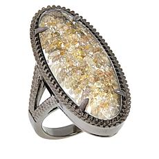 Colleen Lopez Sterling Silver Fancy Diamond Shaker Ring