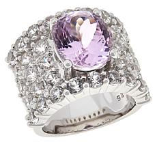 Colleen Lopez Sterling Silver Kunzite and White Zircon Ring
