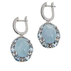 Colleen Lopez Sterling Silver Milky Aquamarine and Gemstone Earrings