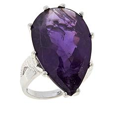 Colleen Lopez Sterling Silver Pear-Shaped Amethyst Ring