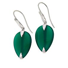 Colleen Lopez Sterling Silver Pear-Shaped Gemstone Dangle Earrings