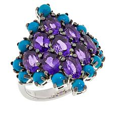 Colleen Lopez Sterling Silver Turquoise and Gemstone Ring