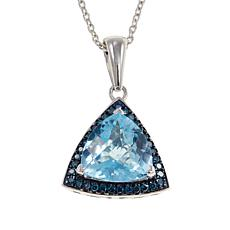Colleen Lopez Trilliant Gem and Diamond Pendant w/Chain