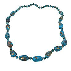 "Colleen Lopez Turquoise Beaded 30"" Necklace"
