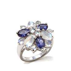 "Colleen Lopez ""Violet Hour"" Iolite and Moonstone Ring"
