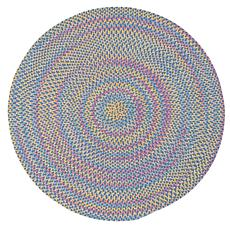 Colonial Mills Botanical Isle 8' Round Rug - Oasis Blue