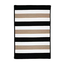 Colonial Mills Portico 8' Square Rug - Sharp Black