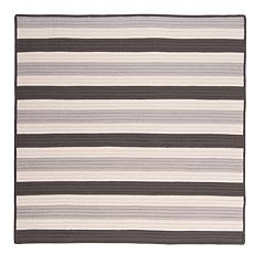 Colonial Mills Stripe It 8' Square Rug - Silver