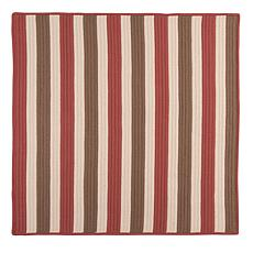 Colonial Mills Stripe It 8' Square Rug - Terracotta