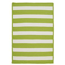 Colonial Mills Stripe It 8' x 11' Rug - Bright Lime