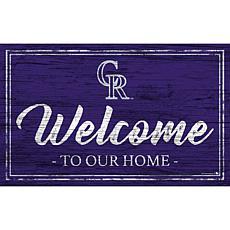 """Colorado Rockies Team Color Welcome Sign - 11x19"""""""