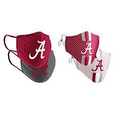 Colosseum Collegiate NCAA Team Logo Face Covering 4-Pack - Alabama
